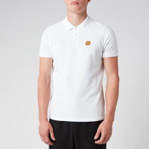 KENZO Men's Tiger Crest Pique Polo Shirt - White