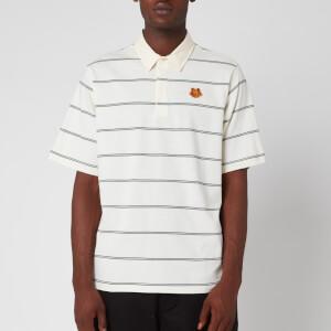 KENZO Men's Striped Seasonal Polo Shirt - Ecru