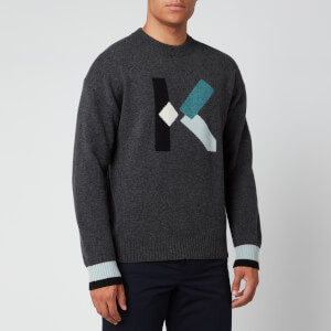 KENZO Men's K Wool Jumper - Dark Grey