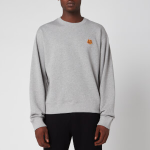 KENZO Men's Tiger Crest Sweatshirt - Pearl Grey