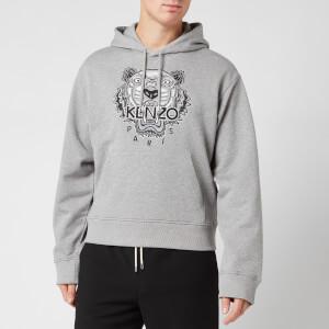KENZO Men's Varsity Tiger Hoodie - Pearl Grey