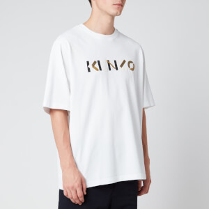 KENZO Men's Multicolour Logo T-Shirt - White