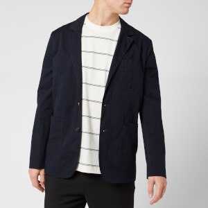 KENZO Men's Casual Two Button Jacket - Navy Blue