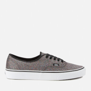 Vans Women's Authentic Glitter Trainers - Rainbow Black