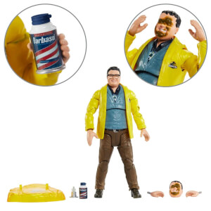 Figurine Mattel Dennis Nedry Jurassic Park Amber Collection 15 cm