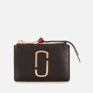 Marc Jacobs Women's Top Zip Multi Wallet - Black/Chianti