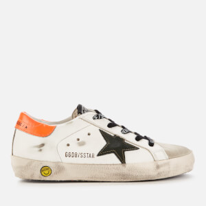 Golden Goose Deluxe Brand Kids' Superstar Trainers - White/Army Green/Orange