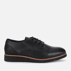 Dune Women's Flinch Leather Derby Shoes - Black