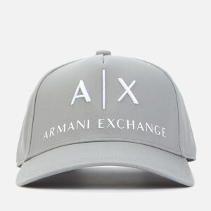 Armani Exchange Men's Corporate Ax Logo Cap - Grey