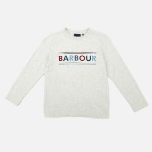 Barbour Heritage Boys' Long Sleeve Logo T-Shirt - Ecru Marl