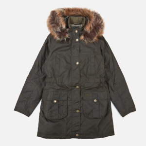 Barbour Heritage Girls' Homeswood Wax Jacket - Olive