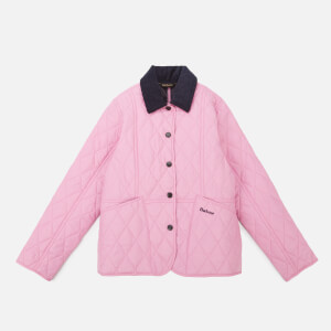 Barbour Heritage Girls' Liddesdale Quilt Jacket - Moonlight Pink/Navy