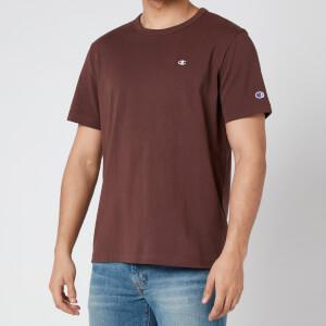 Champion Men's Small Logo Crewneck T-Shirt - Burgundy