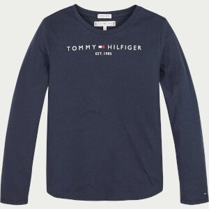 Tommy Hilfiger Girls' Essential Long Sleeve T-Shirt - Twilight Navy