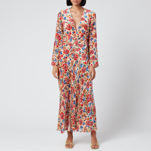 RIXO Women's Mel Maxi Dress - Swirl Floral Print
