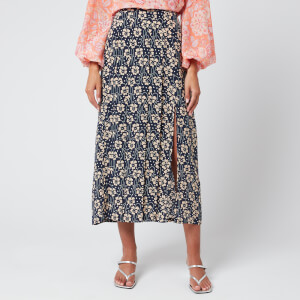 RIXO Women's Georgia Skirt - Wallpaper Floral