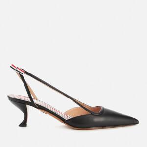 Thom Browne Women's Curved Heel Throatline Slingback - Black