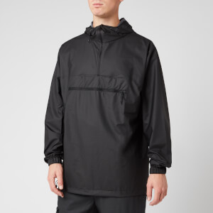 RAINS Men's Ultralight Zip Anorak - Black