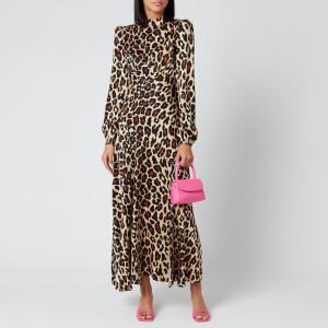 De La Vali Women's Clara Printed Satin Long Dress - Leopard