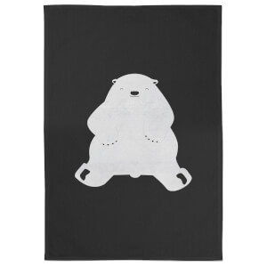 Snowtap Polar Bear Cotton Tea Towel - Black