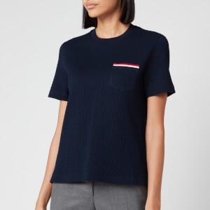 Thom Browne Women's Short Sleeve Pocket T-Shirt - Navy