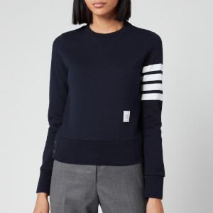 Thom Browne Women's Classic Sweatshirt In Classic Loop Back - Navy