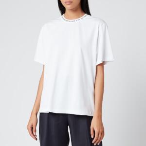 Victoria, Victoria Beckham Women's Logo Rib T-Shirt - White