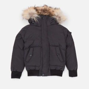 Pyrenex Boys' Jami Fur Jacket - Black