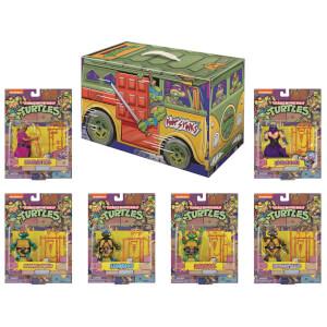 Playmates TMNT Retro Rotocast PX 6 Piece Action Figure Set - SDCC Exclusive