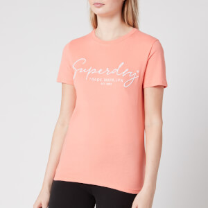 Superdry Women's Alice Script Emb Entry T-Shirt - Desert Flower