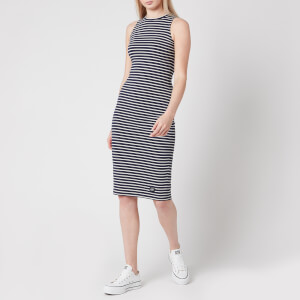 Superdry Women's Lily Crochet Insert Dress - Navy Stripe
