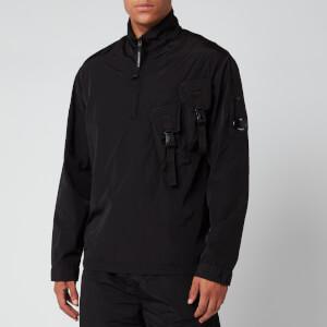C.P. Company Men's Half Zip Chest Pocket Jacket - Black