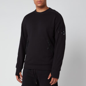 C.P. Company Men's Front Zip Pocket Sweatshirt - Black