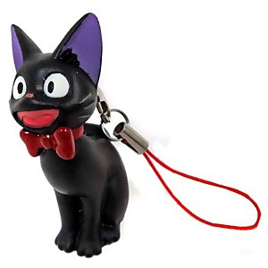 Kiki's Delivery Service Laughing Jiji Soft Vinyl Phone Charm