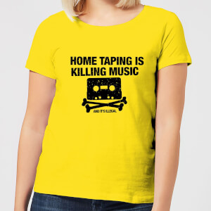 Home Taping Is Killing Music Black Women's T-Shirt - Yellow