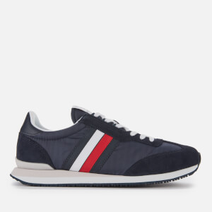Tommy Hilfiger Men's Low Mix Running Style Trainers - Desert Sky