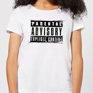 Parental Advisory Explicit Content Black Women's T-Shirt - White
