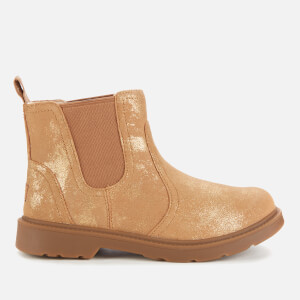 UGG Kids' Bolden Metallic Suede Chelsea Boots - Metallic Gold