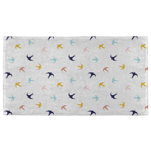 Hand Towels Multi Coloured Swallows Hand Towel