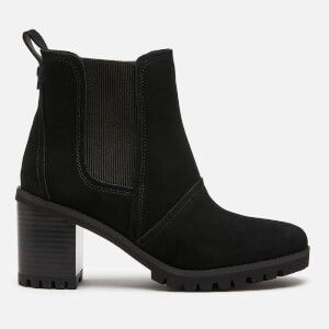 UGG Women's Hazel Waterproof Leather Heeled Chelsea Boots - Black