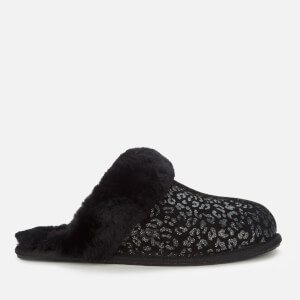 UGG Women's Scuffette Ii Snow Leopard Slippers - Black