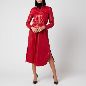 BOSS Women's Daledy Shirt Dress - Bright Red