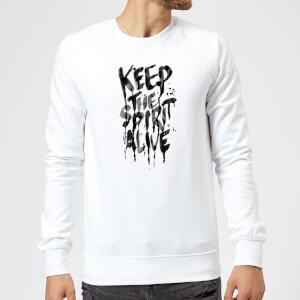 Ikiiki Keep The Spirit Alive Sweatshirt - White