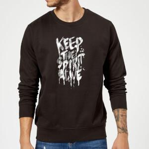 Ikiiki Keep The Spirit Alive Sweatshirt - Black
