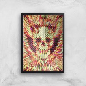 Ikiiki Geo Skull Giclee Art Print
