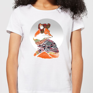 Ikiiki Winter Fox Women's T-Shirt - White