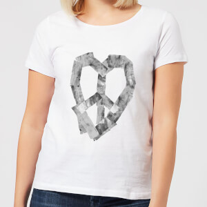 Ikiiki Peace Heart Women's T-Shirt - White