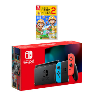 Nintendo Switch (Neon Blue/Neon Red) Super Mario Maker 2 Pack