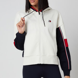 Tommy Sport Women's Colorblocked Full Zip Hoody - Ivory
