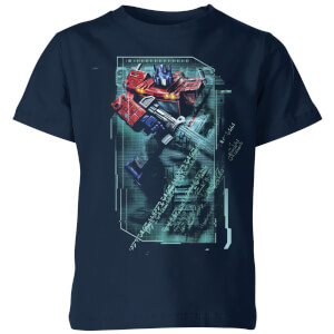 T-shirt Transformers Optimus Prime Tech - Bleu Marine - Enfants